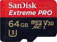 Карта памяти Sandisk microSDXC 64GB Class 10 UHS-I U3 Extreme Pro V30 R170MB/s