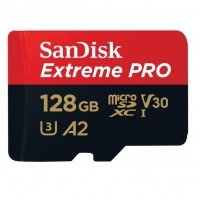 Карта памяти Sandisk microSDXC 128GB Class 10 UHS-I U3 A2 Extreme Pro R170MB/s + SD-адаптер