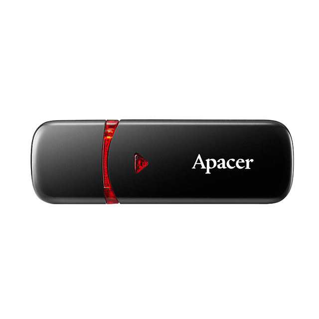 Накопичувач USB 2.0 APACER AH33364GB Black (AP64GAH333B-1) фото