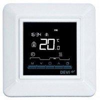 "Терморегулятор электронный DEVI Devireg Opti, 2"" экран, 85х85мм, макс. 13A, белый (140F1055)"
