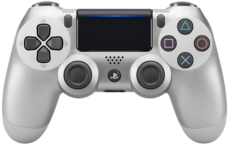 Беспроводной геймпад SONY Dualshock 4 V2 Silver для PS4 (9895954) фото 1