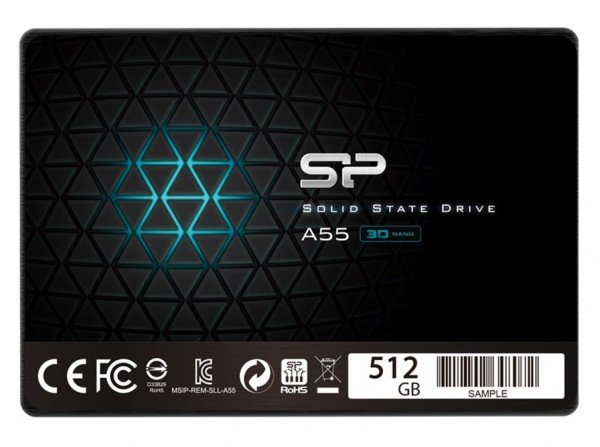 Купить SSD накопитель SILICON POWER A55 512GB 2.5 SATA TLC (SP512GBSS3A55S25)
