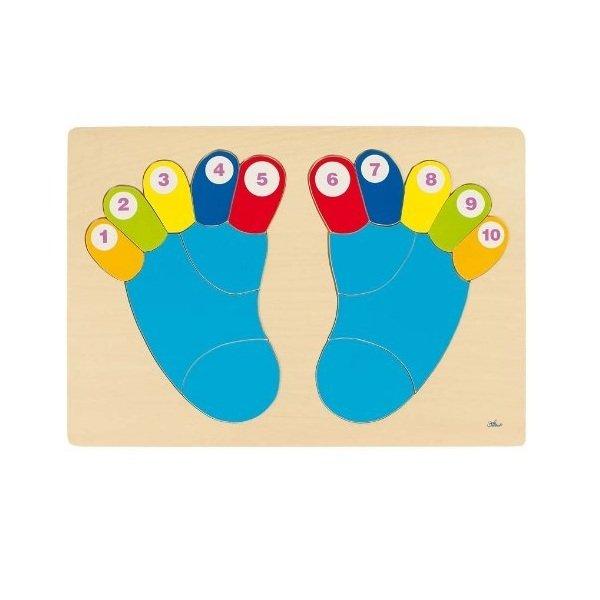 Купить Пазл-вкладыш goki Ножки (57876G)