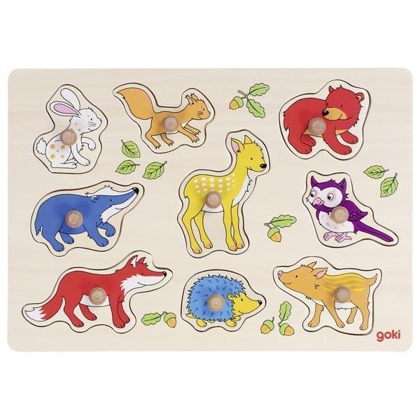 Купить Пазл-вкладыш goki Лесные животные (57701G)