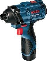 Аккумуляторный ударный гайковерт Bosch Professional GDR 120-LI + Набор из 5 HSS-G сверл (06019F0005)