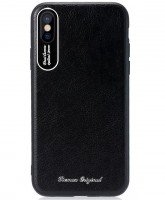 Чехол Remax для iPhone X Leather Aluminum black