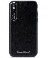 Чехол Remax для iPhone X/Xs Leather Aluminum black