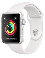 Смарт-часы Apple Watch Series 3 GPS 42mm Silver Aluminium Case with White Sport Band (MTF22FS/A)