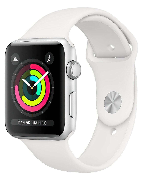 Смарт-годинник Apple Watch Series 3 GPS 38mm Silver Aluminium Case with White Sport Band (MTEY2FS/A) фото