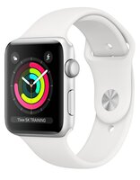 Смарт-годинник Apple Watch Series 3 GPS 38mm Silver Aluminium Case with White Sport Band (MTEY2FS/A)