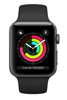 Смарт-годинник Apple Watch Series 3 GPS 38mm Space Grey Aluminium Case with Black Sport Band (MTF02FS/A)
