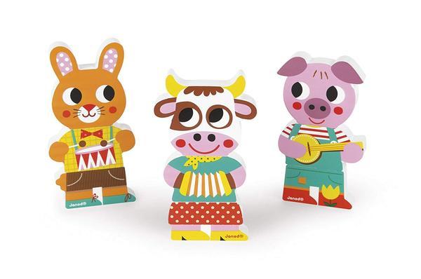 Купить Игровые магнитные фигурки Janod Животные (J08029)