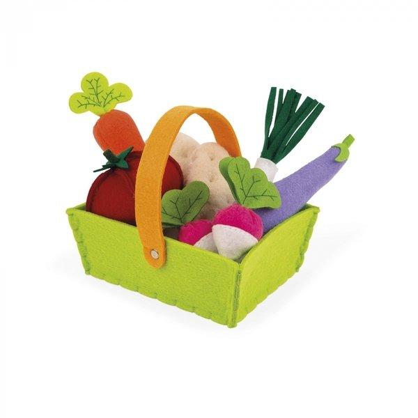 Купить Игровой набор Janod Корзина с овочами 8 элементов (J06578)
