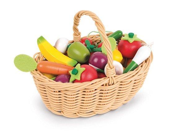 Купить Игровой набор Janod Корзина с овощами и фруктами 24 элемента (J05620)