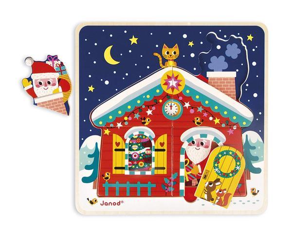 Купить Пазл многослойный Janod Рождественская ночь (J07020)