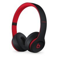 Наушники Bluetooth Beats Solo3 Wireless On-Ear Headphones Black-Red (MRQC2ZM/A)