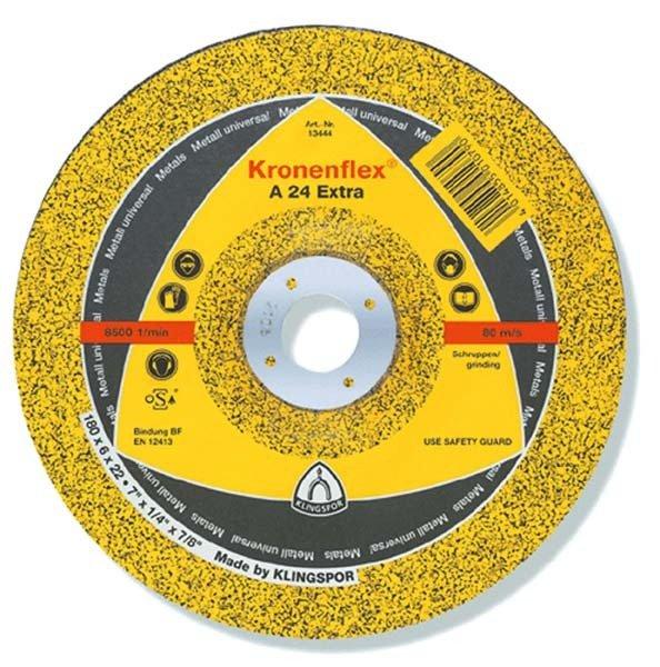 Купить Круг шлифовальный по металлу Klingspor 125х6х22, 2 Kronenflex A24 Extra