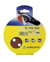 Шлифовальный круг на липучке Klingspor PS 18 EK 125х40, G5S5, 5шт.