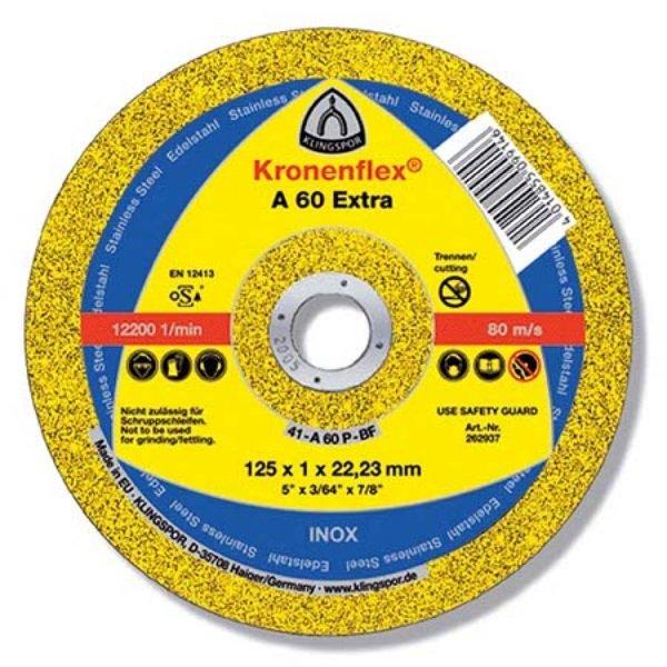 Купить Отрезной круг по металлу Klingspor 125х1, 6х22, 2 Kronenflex A46 Extra