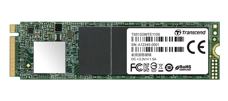 SSD накопитель TRANSCEND MTE110 512GB M.2 NVMe PCle 3.0 4x 2280 (TS512GMTE110S) фото 1