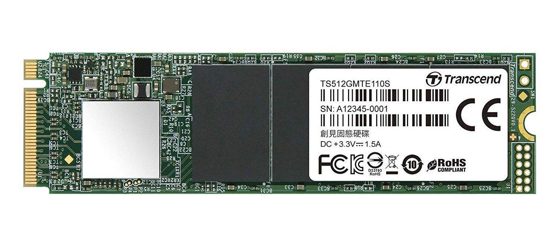 SSD накопитель TRANSCEND MTE110 512GB M.2 NVMe PCle 3.0 4x 2280 (TS512GMTE110S) фото