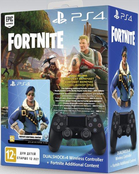 Купить Беспроводной геймпад SONY Dualshock V2 Jet Black для PS4 (Fortnite) (9757016)