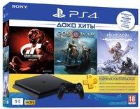 Игровая консоль PlayStation 4 Slim 1Tb (Gran Turismo + God Of War + Horizon. Zero Dawn + PSPlus 3М) (9785316)
