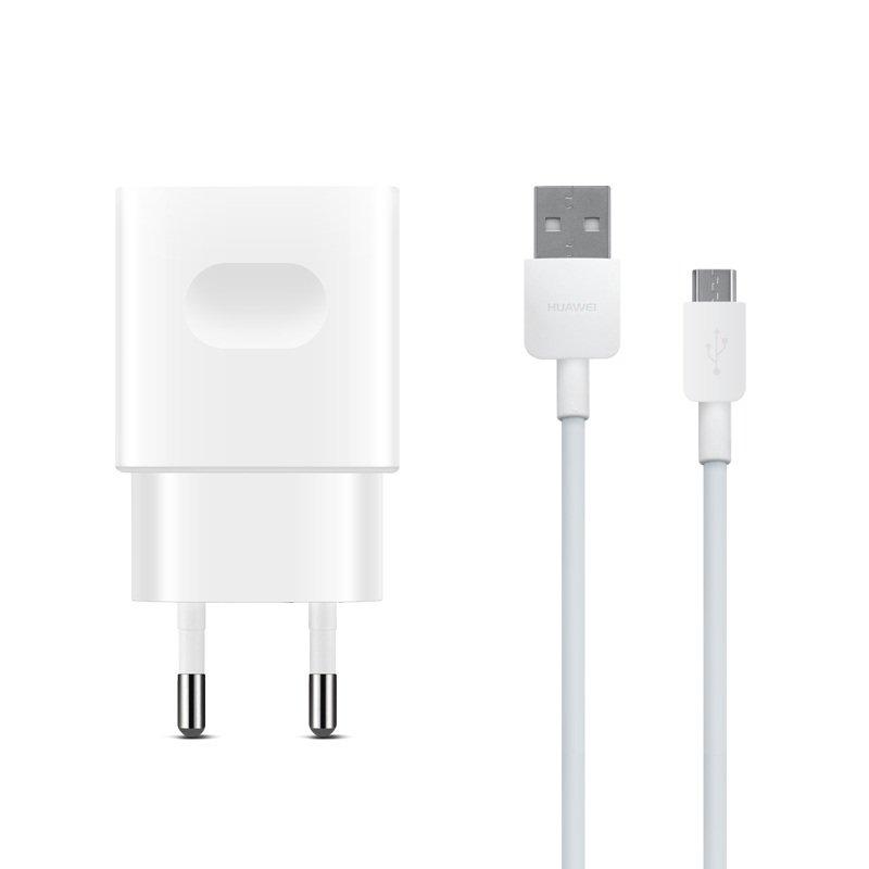 Мережевий зарядний пристрій Huawei AP32 QuickCharger+microUSB Cable White фото1