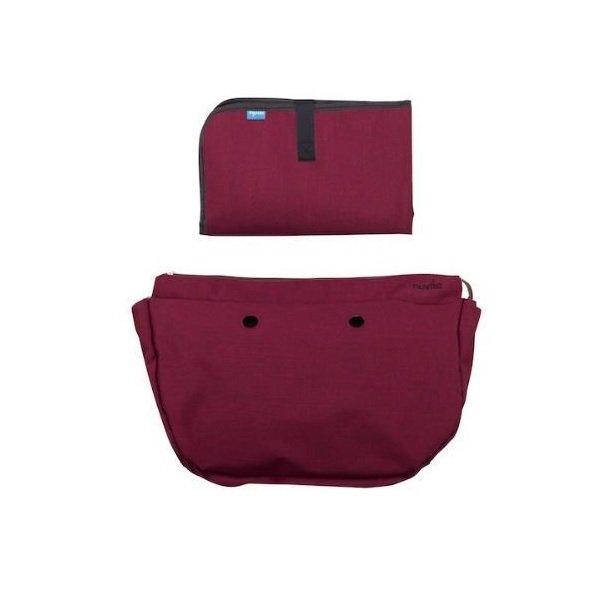 Купить Набор подкладка и коврик для пеленания MyMia бордовый (NV8802BORD)