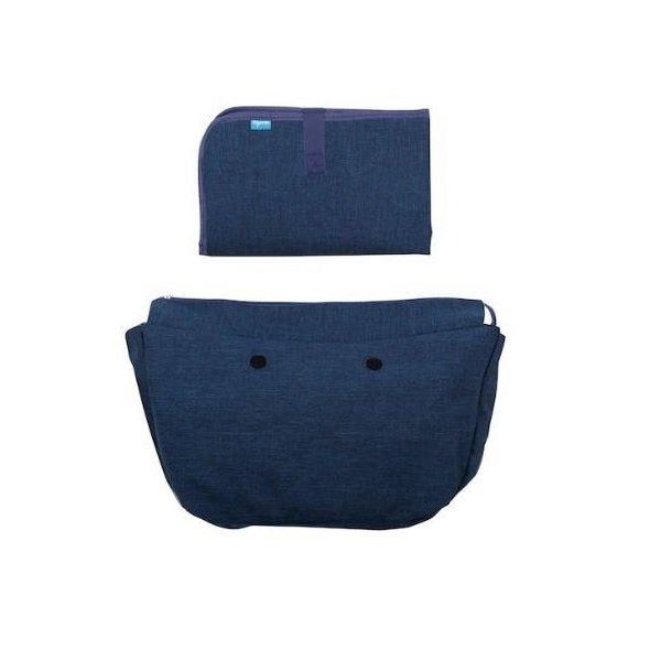 Купить Набор подкладка и коврик для пеленания MyMia темно-синий (NV8802NAVY)