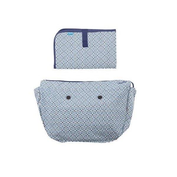 Купить Набор подкладка и коврик для пеленания MyMia оптический орнамент (NV8802OPTI)