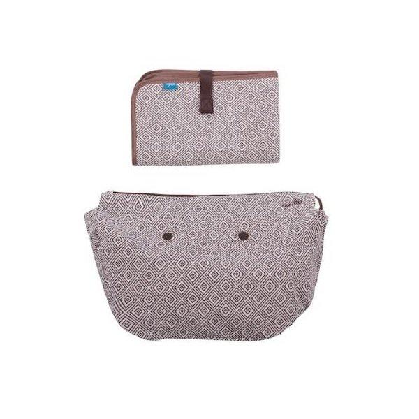 Купить Набор подкладка и коврик для пеленания MyMia геометрический орнамент (NV8802RHOM)