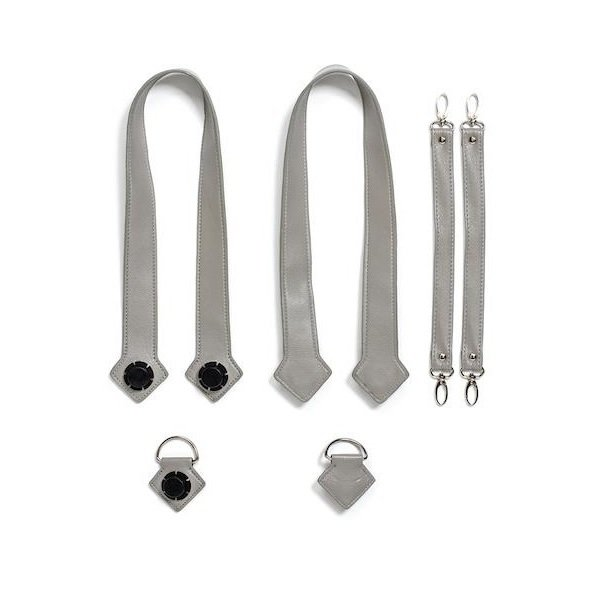 Купить Набор ручки, фиксаторы, ремни на коляску эко-кожа MyMia серый (NV8803GREY)
