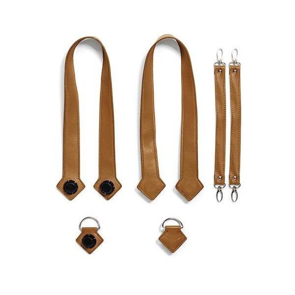 Купить Набор ручки, фиксаторы, ремни на коляску эко-кожа MyMia коричневый (NV8803CAMEL)