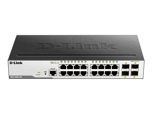 Коммутатор D-Link DGS-3000-20L 16xGE, 4xSFP 1G, L2 (DGS-3000-20L)  - купить со скидкой