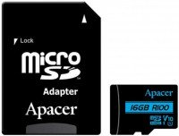 Карта памяти Apacer microSDHC 16GB UHS-I U1 V10 R100MB/s + SD-адаптер