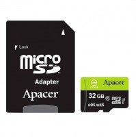 Карта памяти Apacer microSDHC 32GB UHS-I U3 R95/W45MB/s + SD-адаптер
