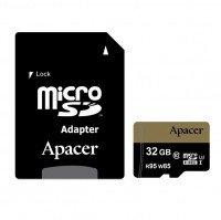 Карта памяти Apacer microSDHC 32GB UHS-I U3 R95/W85MB/s + SD-адаптер
