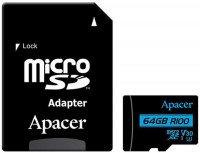 Карта памяти Apacer microSDXC 64GB UHS-I U3 V30 R100MB/s + SD-адаптер