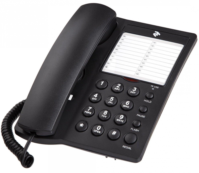 Телефон шнуровой 2E AP-310 Black фото 1