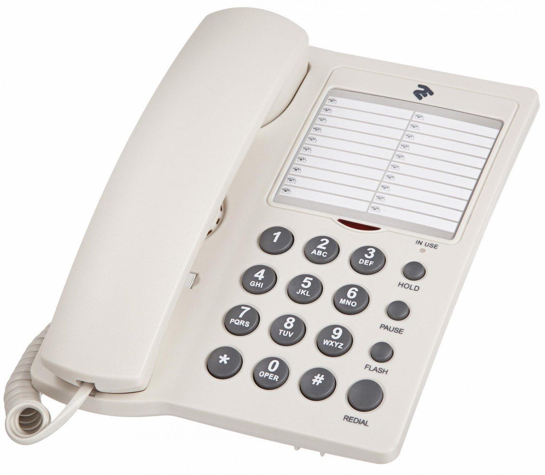 Телефон шнуровой 2E AP-310 White фото 1