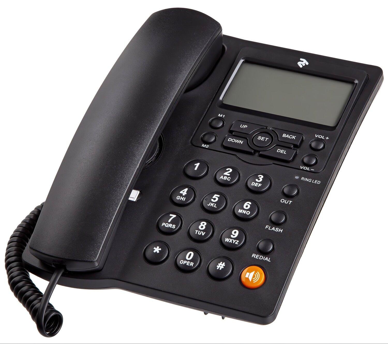 Телефон шнуровой 2E AP-410 Black фото 1