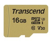 Карта памяти Transcend microSDHC 16GB Class 10 UHS-I U3 R95/W60MB/s + SD адаптер