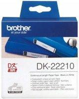 Картридж Brother для спеціалізованого принтера QL-1060N/QL-570, 29mm x 30.48M (DK22210)