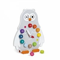 Развивающая игрушка Janod Часы двусторонние Сова (J08132)