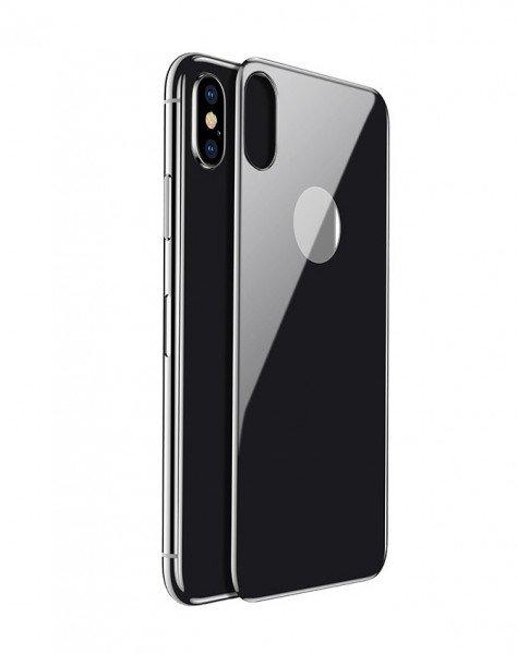 Купить Стекло Baseus для iPhone X/Xs 0.3mm All-coverage Arc-surface Back Film Space gray