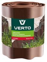Лента VERTO газонная 15 cm x 9 m, коричневая 15G514