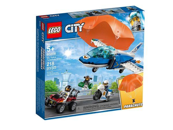 Купить Конструктор LEGO City Воздушная полиция: арест с парашютом (60208)