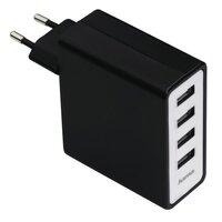 Мережевий зарядний пристрій Hama Auto-Detect 4-Port 5A Black