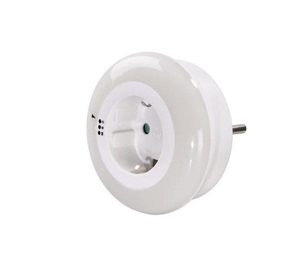 """Сетевой адаптер НАМА """"Circle"""", подсветка, белый, LED синий-зеленый-белый фото"""